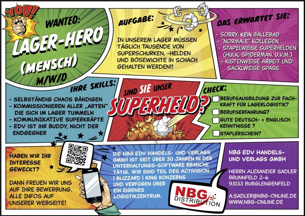 """Stellenanzeige """"Superheld"""""""